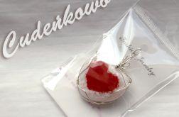 Opalowe Serce I ręcznie tworzone szkło