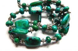 Chryzokola-zielono niebieski kamień mądrości