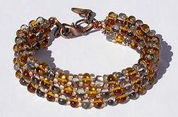 bransoletka farfalle złoto-srebrna