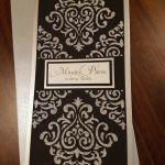 Kartka ślubna zdob.srebrną pastą brokatową 2