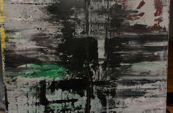Obraz abstrakcyjny gray 80x100