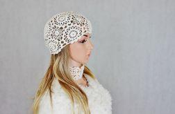 Lady eL czapka szydełkowa ecri 01