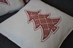 Poszewka filcowa - czerwona choinka
