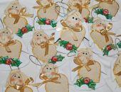 W świątecznych sukienkach - aniołki z dedykacją  - ozdoba, prezenty dla gości