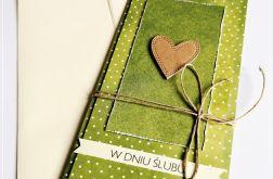 Kartka ślubna -serce