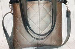 Torebka damska torba shopper pikowana kieszeń