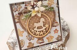 Konik na biegunach - kartka świąteczna