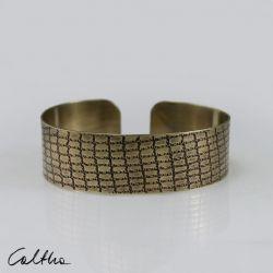 Siatka - mosiężna bransoleta 190111-02