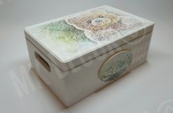 Skrzynia/kufer z wieczkiem z kolorowym misiem