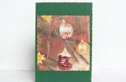 Zielona kartka świąteczna vintage