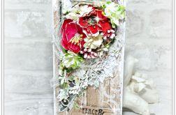 Kartka Świąteczna z kwiatami
