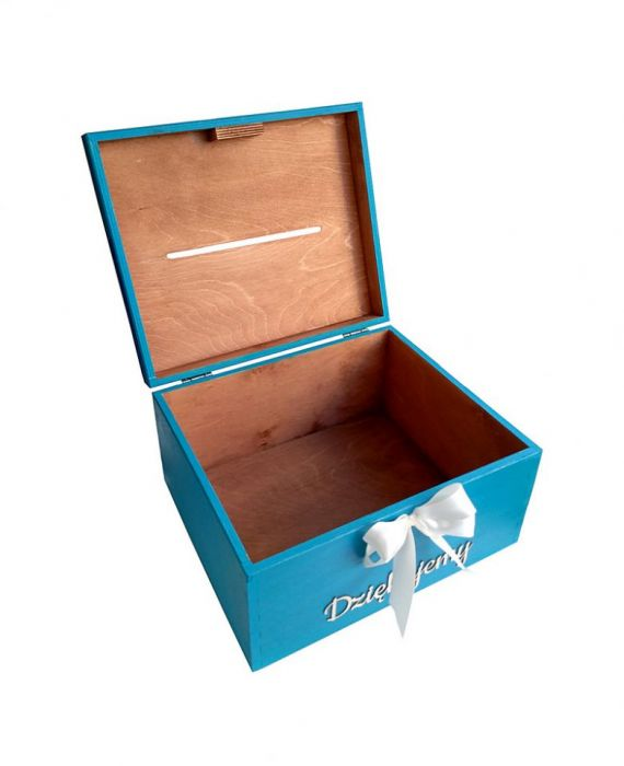 Drewniane pudełko na koperty skrzynka na ślub