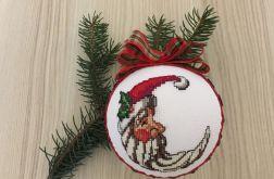 Bombki haftowane świąteczny księżyc