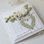 Kartka ślubna z bukietem kwiatów v.2 - buk3a