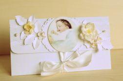 Kopertówka kartka chrzest urodziny, narodziny, zaproszenia
