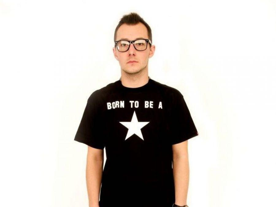 """Born to be a star"" Koszulka męska"