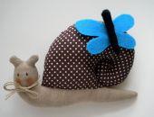 ślimak z motylkiem