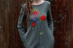 Sukienka taliowana DZIEŃ DOBRY oliwkowa