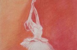 Baletnica w odcienach mocnej czerwnieni