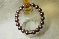56. Bransoleta z pereł szklanych 10mm