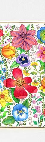 Kwiaty A3