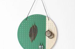 Okrągły GREEN wiszący organizer na kolczyki