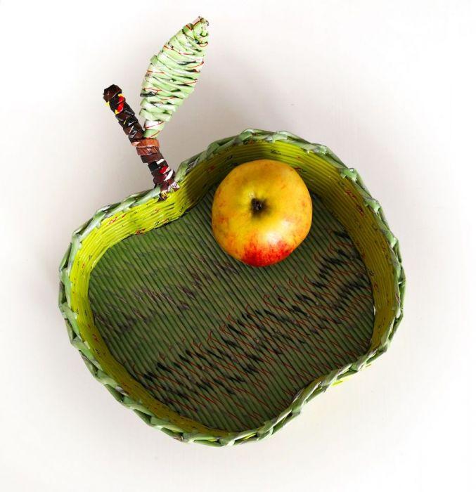 zielone jabłuszko - kosz