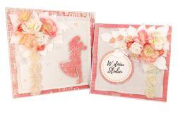 Komplet ślubny - kartka + pudełko - #664