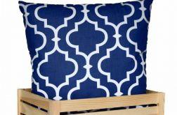 Ozdobna bawełniana poduszka ~ Maroko&navyblue