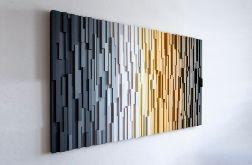 "Mozaika drewniana, obraz 3D ""PR"""