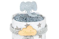 Tort z pieluszek pampers, prezent na chrzest, bociankowe