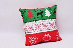 Poduszka świąteczna poduszka na święta pasy