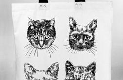 Koty - torba bawełniana z nadrukiem