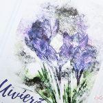 Kartka MOTYWACYJNA - fioletowe kwiaty - Uniwersalna karta z fioletowymi kwiatami