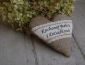 Kochanej Babci i Dziadkowi - serce rustykalne