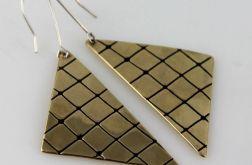 Trójkąty - mosiężne kolczyki 191023-01