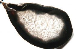 Czarno-biały plaster, agat i kryształ wisior