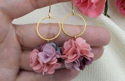 Kolczyki dla druhny na wesele kwiaty lila
