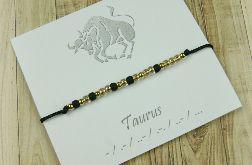 Taurus Bransoletka Zodiak Morse Code