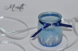 Świąteczny lampion szklany -6-