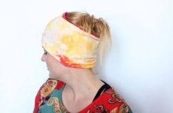 opaska damska na włosy ręcznie farbowana