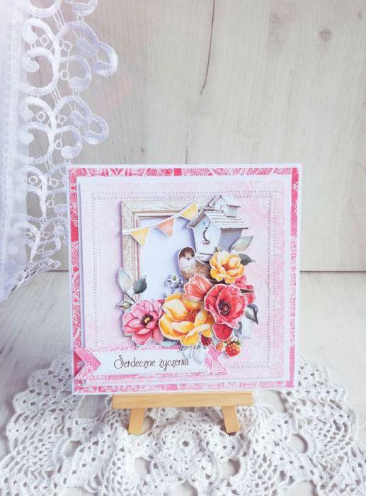 Kartka urodzinowa Coral Romance 1 GOTOWA