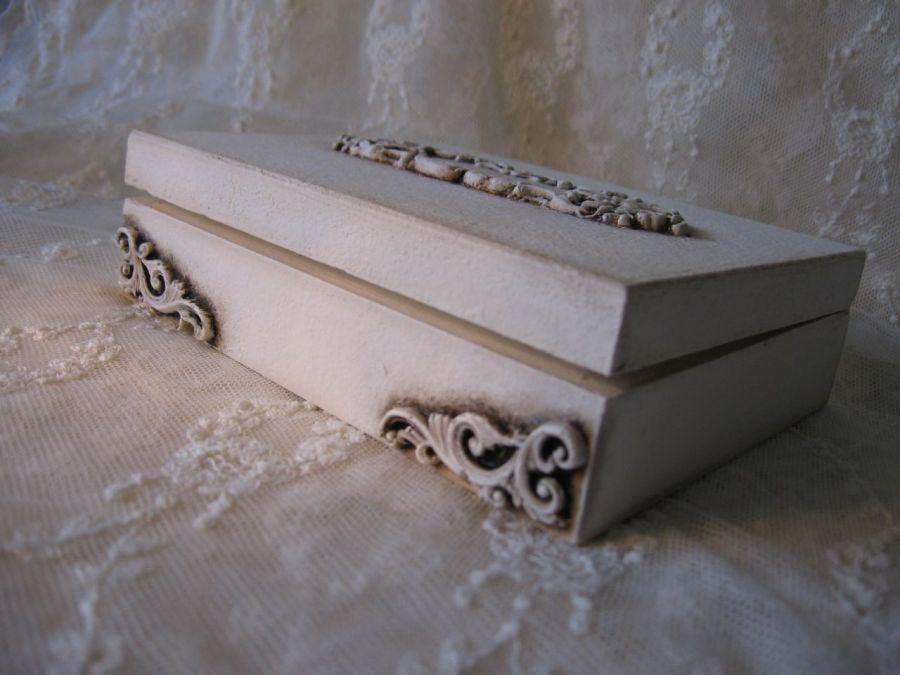 Szkatułka skrzyneczka na obrączki kopertę