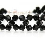 Bransoletka swarovski czarna - bransoletka z kryształów kolor Jet