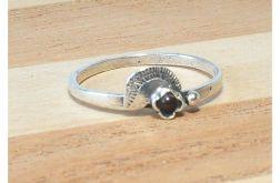 44 pierścionek vintage, srebrny, delikatny