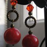 Kolczyki - wytrawne wino (z kryształkami Swarovskiego)
