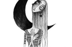 Księżyc - oryginalny rysunek 0809