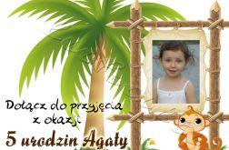 Zaproszenie na urodziny dziecka ze zdjęciem na 2,3,4,5,6,7,8,9 itd Psotna małpka