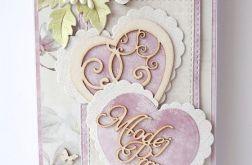 Kartka ślubna różowa G23
