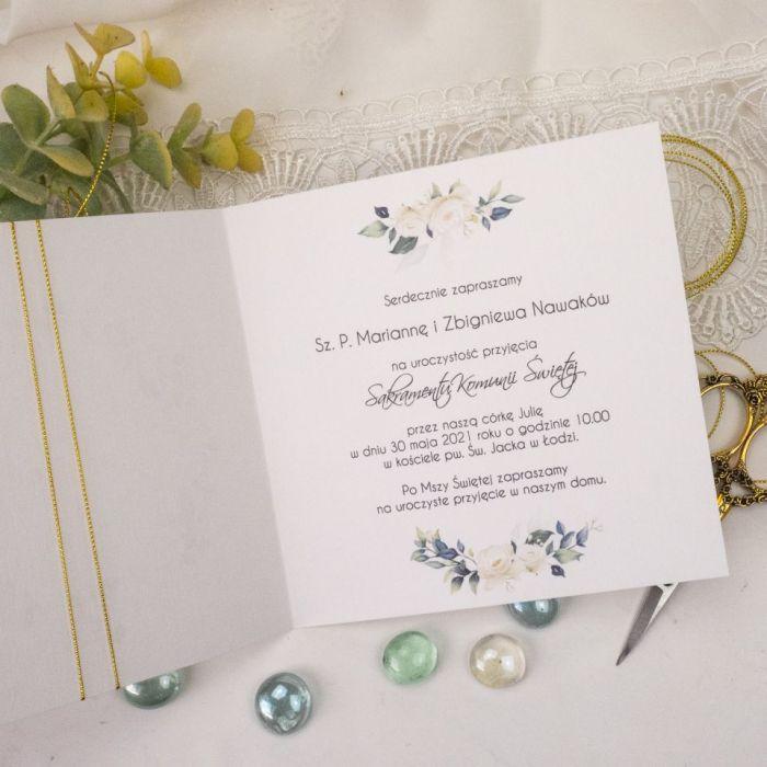 Zaproszenia na komunię, chrzest - kwiaty3 - zaproszenia dla dzieci, zaproszenia na chrzest, zaproszenia kwiatowe